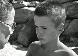 Enzo et Jacques petits en Sicile - Le Grand Bleu